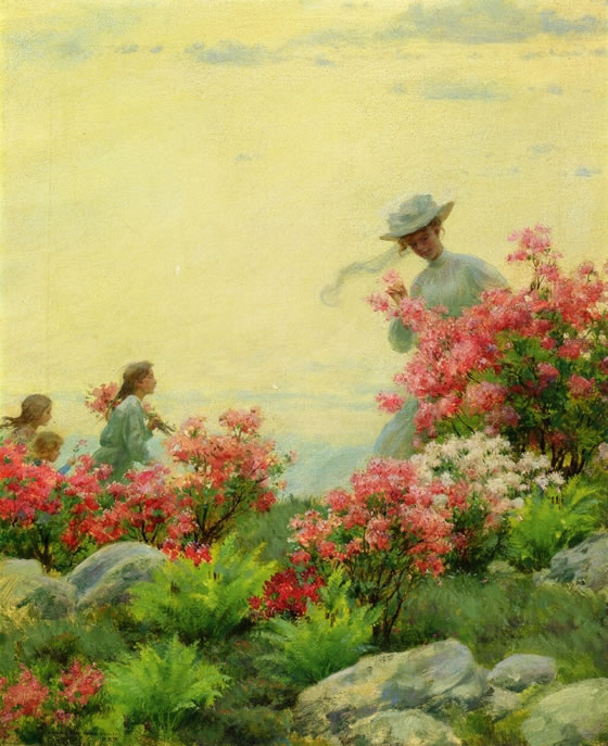 1-Charles-Courtney-Curran-Lotus-Lilies-1888