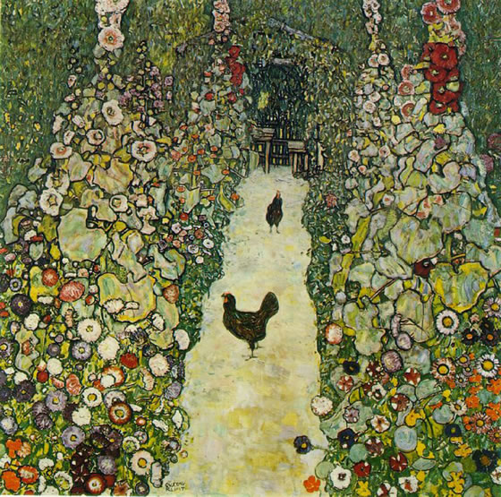 1916_garden-pathwith-chickens