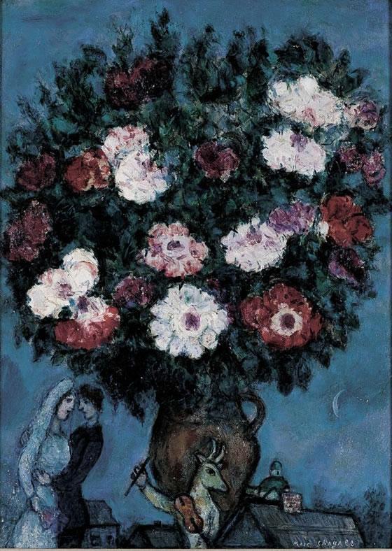 2-Bouquet-de-Fleurs-Avec-Amoureux-Marc-Chagall