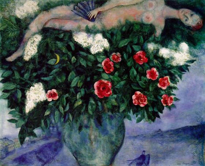 2 marc chagall woman woman and the roses 1929