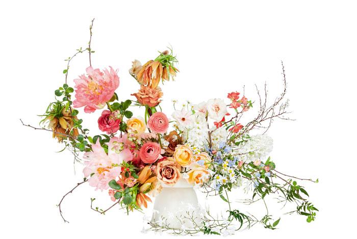 Composición floral análoga