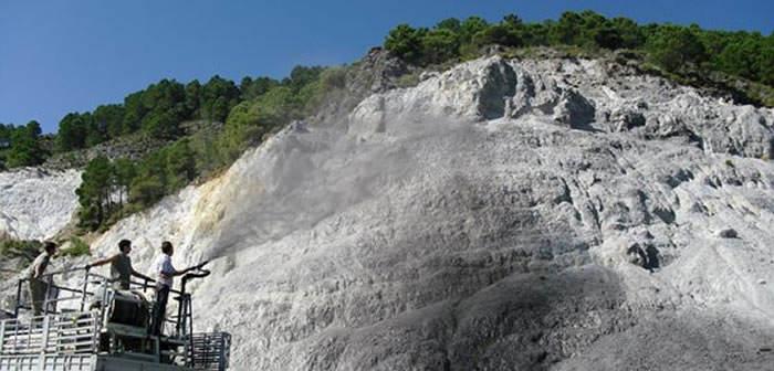 aplicacion envejecimiento de rocas