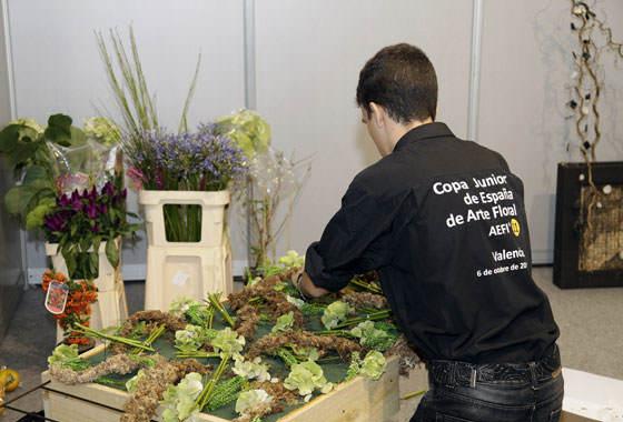 Antonio Alejandro en la Copa Junior de Arte Floral