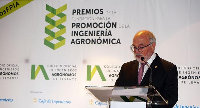 Baldomero Segura, decano del Colegio de Ingenieros Agrónomos de Levante
