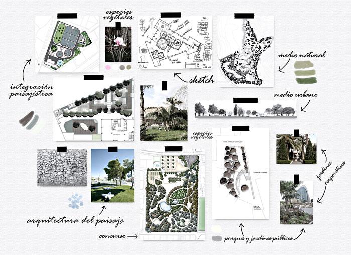Símbolos y texturas diseñados por CAPA & Co para ilustrar proyectos de paisajismo.
