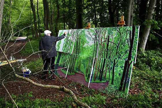 david-hockney-pintando-al-aire-libre