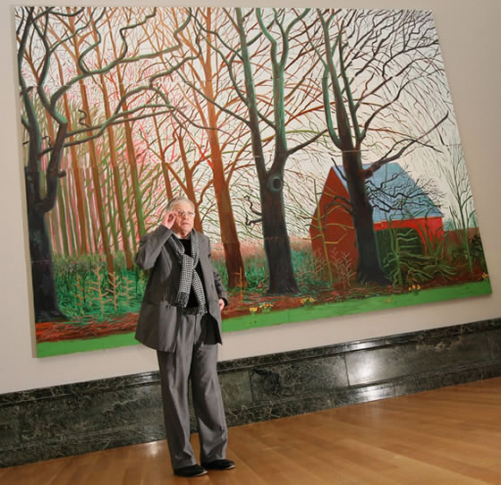 David Hockney, Bigger Trees Nears Warter
