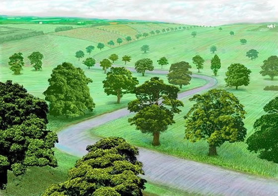 David Hockney Green Valley