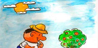 Dibujo regando plantas 1