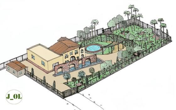 Diseño de un jardín