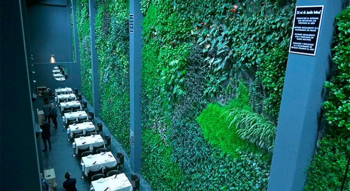 El jardín vertical más grande de Europa