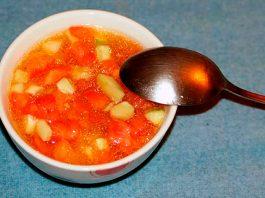 Ensalada de tomate y pepino