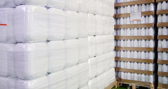 Envases para fertilizantes vacíos reciclados