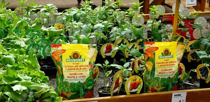 Fertilizantes y fitosanitarios en la bricojardinería