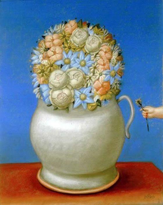 Flores de Fernando Botero