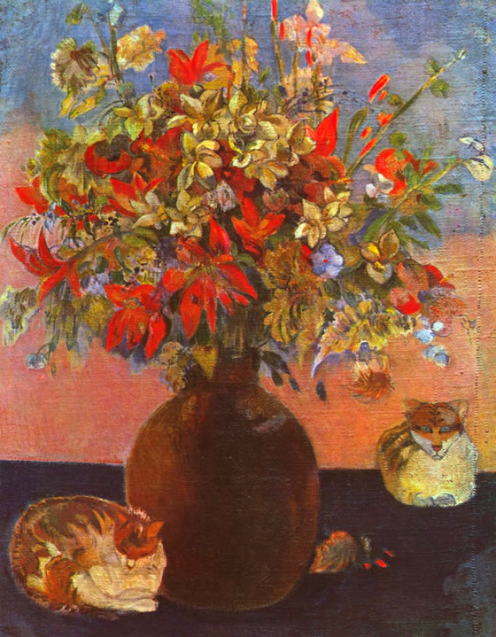 flowers-and-cats-gauguin