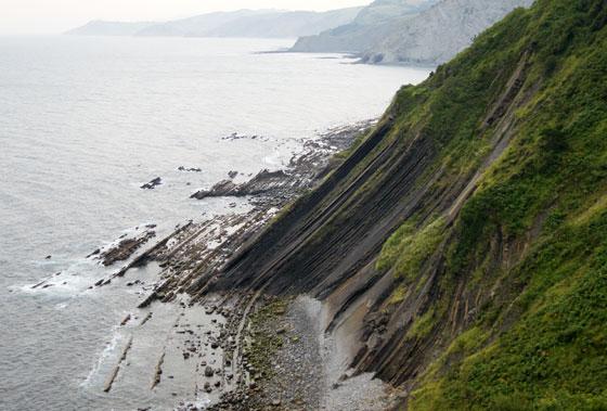 Flysch en la costa Vasca