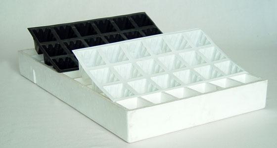 Fundas de plástico para bandejas de semillero