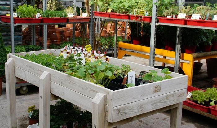 Mesas para huertos urbanos