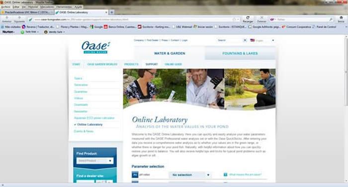 Laboratorio online para el cuidado del agua del estanque for Estanques online