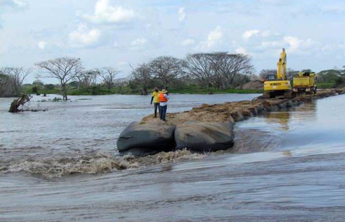 Megabolsas para control de la erosión