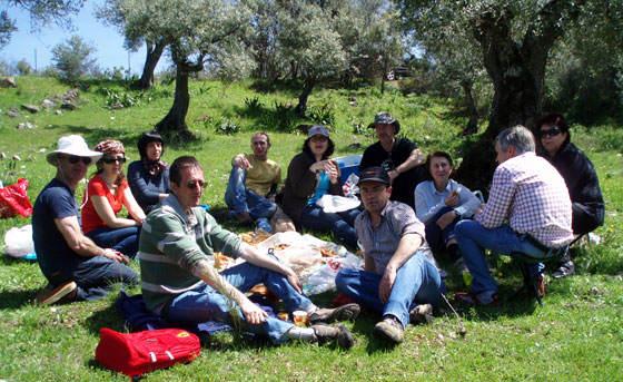 Miembros del Club Amigos de las Orquídeas