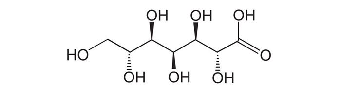 Fórmula química del Ácido heptaglucónico