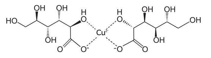 Fórmula química del gluconato de cobre