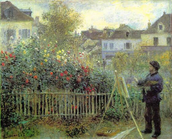 Monet pintando por Renoir