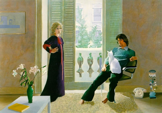mr and mrs Clark and percy Hockney