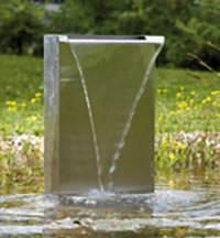 Cascada empotrable en acero inoxidable para estanque y jardin
