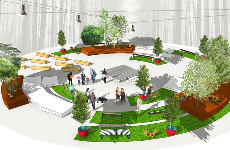 Paisajismo urbano en Ágora Verde