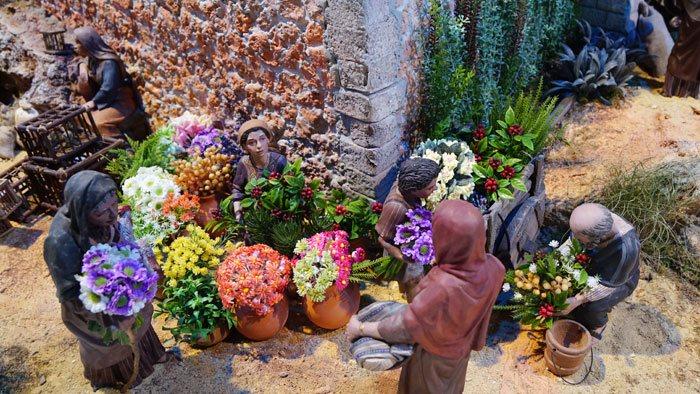 Plantas en la decoración de belenes