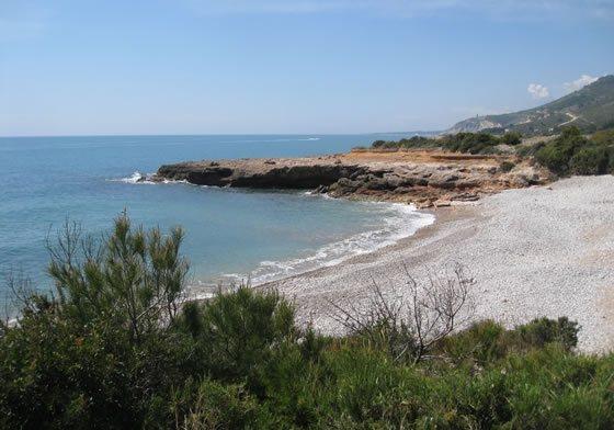 Playa en la Sierra de Irta