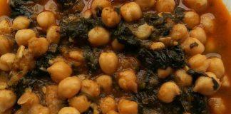Garbanzos y verduras en potaje