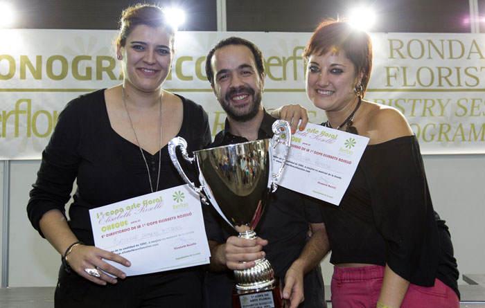 Sergio Yerón, ganador de la I edición de la Copa de Arte Floral Elisabeth Roselló