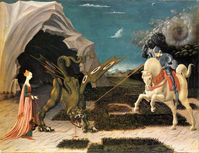Pintura de Paolo Uccello, San Jorge