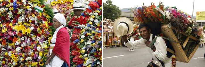 Silleteros en la Feria de las Flores de Medellín 2015, en Colombia