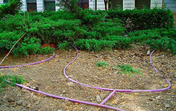 tuberias de riego violeta